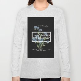 Harry Styles Meet me in the hallway graphic design artwork Long Sleeve T-shirt