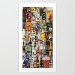 Beer Me Collage Art Print