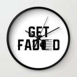 Get Faded Barber Haircut Fade Razor Trimmer Gift Men Cut Clipper  Wall Clock