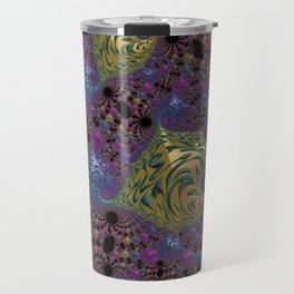 colorful fractal Travel Mug