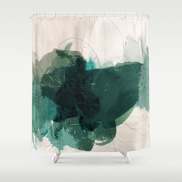 gestural abstraction 02 Shower Curtain