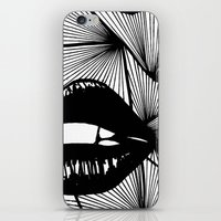 lips iPhone & iPod Skins featuring Lips by Aurelie