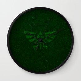Green Triforce Wall Clock