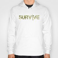 army Hoodies featuring Survive (Army) by eARTh