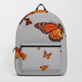 FLOCK OF ORANGE MONARCH BUTTERFLIES ART Backpack