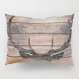 Rustic Black Deer Silhouette A311 Pillow Sham