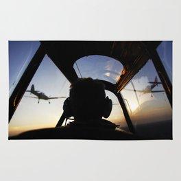 Sunset flight Rug