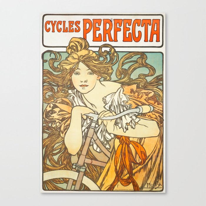 Cycles Perfecta by Alphonse Mucha, 1902 Leinwanddruck