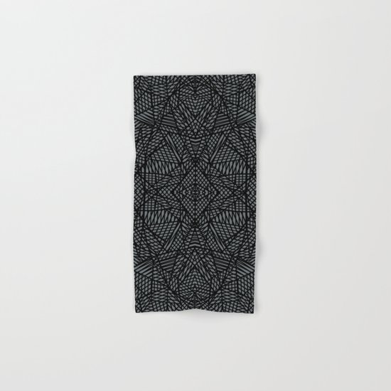Ab Lace Black and Grey Hand & Bath Towel