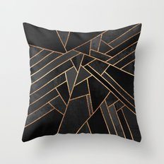 Black Night Throw Pillow