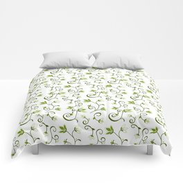 Ditzy Green Floral Comforters