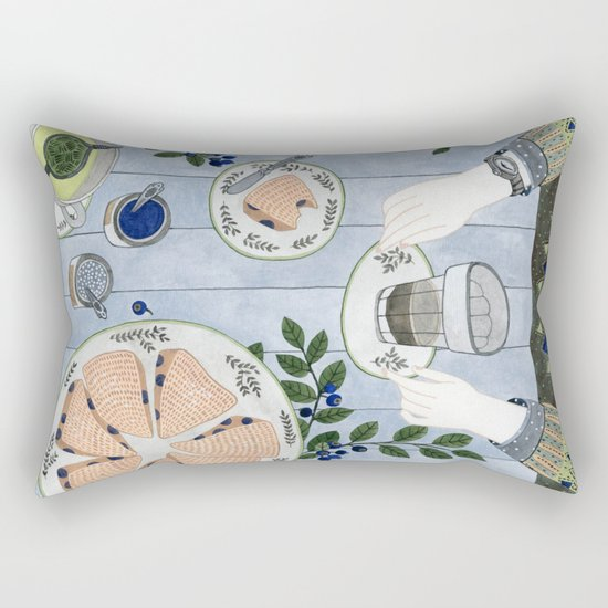 Blueberry Scones Rectangular Pillow