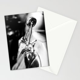 Packard Hood Ornament in Black and White Stationery Cards