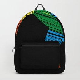 LGBT Rainbow Star Rainbow Pride Love Retro Backpack
