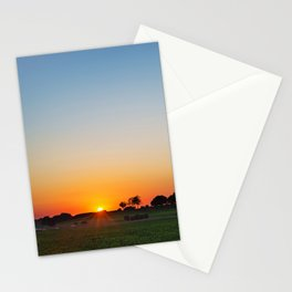 Countryside sunset Stationery Cards