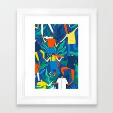 Working together Framed Art Print