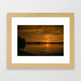 Belmont Beach Framed Art Print