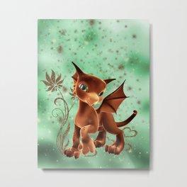 Cuddle Me Dragon 2 Metal Print