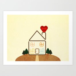 Home is Where The Heart is. Art Print