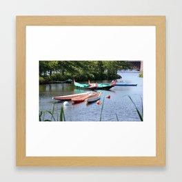 Boats in Boston, MA. USA Framed Art Print