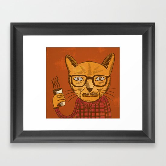 Working with designers is like herding cats Framed Art Print