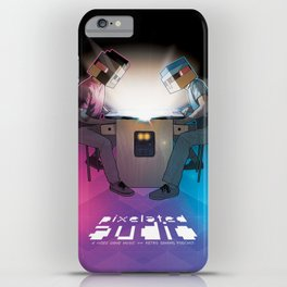 Pixelated Audio video game podcast iPhone Case