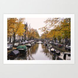 Autumn on Amsterdam's canals Art Print