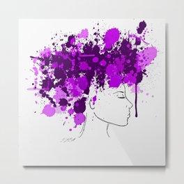 Free as my Hair Metal Print