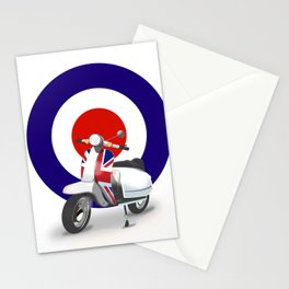 Mod Moped poster Stationery Cards