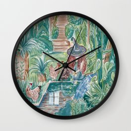 Jealous Chicken On Vacation Wall Clock