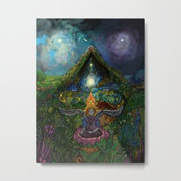 Meditation in the Garden Metal Print