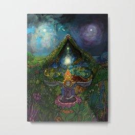 Meditation in the Garden Metal Print