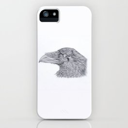 A Crow Listens iPhone Case