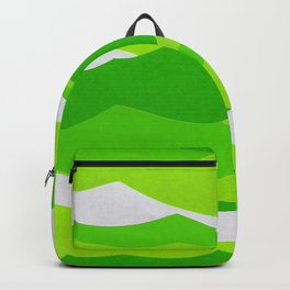 Waves - Lime Green Backpack