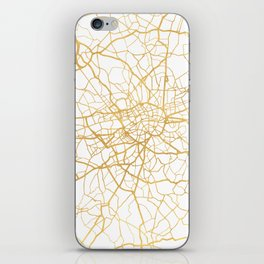 LONDON ENGLAND CITY STREET MAP ART iPhone Skin
