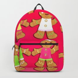 Gingerbread Men and Gingerbread Woman Cookies Backpack