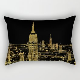 Abstract Gold City  Skyline Design Rectangular Pillow