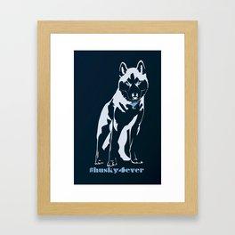 Husky forever Framed Art Print