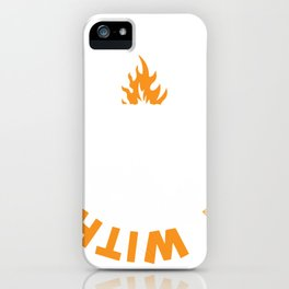 Funny Grilling New BBQ Real Men Play With Fire Fathers Day Gift iPhone Case