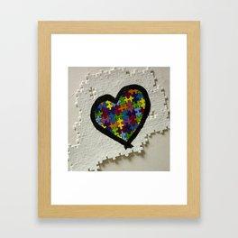 Autism Awareness Heart Framed Art Print