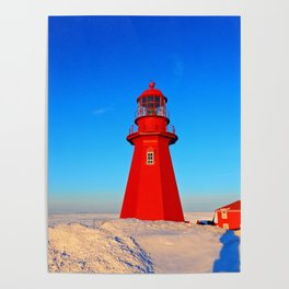 Lighthouse  and Frozen Sea Poster