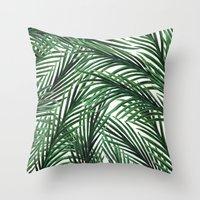 Throw Pillows featuring Tropical by Elly Liyana