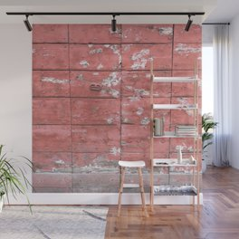 Antique Red Wooden Gate Rome Italy Wall Mural