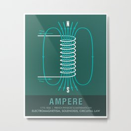 Science Posters - Andre Marie Ampere - Physicist Metal Print