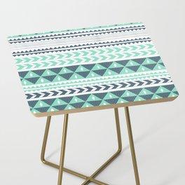 Winter Stripe Side Table