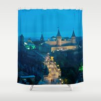 ukraine Shower Curtains featuring Kamianets-Podilskyi Castle (Ukraine) by Limitless Design