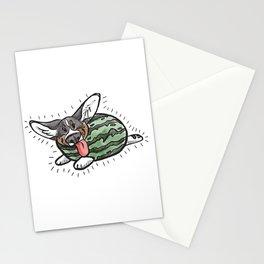 Sweet Dee the Watermelon Corgi Stationery Cards