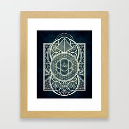 Ultra Sacred Geometry Dark Framed Art Print