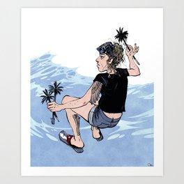 Olas Art Print