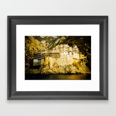 Grigoriou Monastery, Mount Athos, Greece Framed Art Print